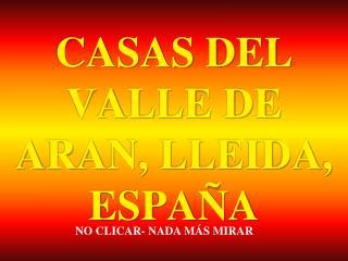 CASAS DEL VALLE DE ARAN, LLEIDA, ESPAÑA