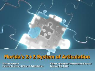 Florida s 22 System of Articulation