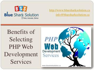 Benefits of selecting PHP web development services
