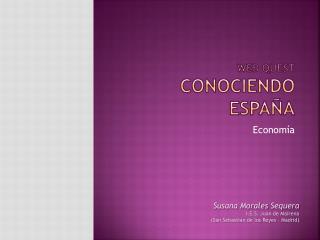 Web  quest CONOCIENDO  ESPAÑA