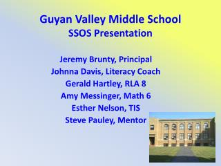 Guyan Valley Middle School SSOS Presentation