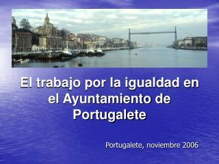 El trabajo por la igualdad en el Ayuntamiento de Portugalete