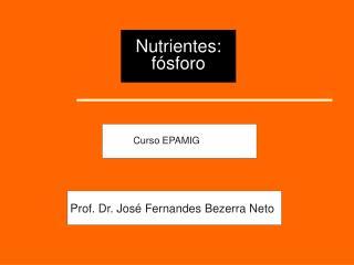Nutrientes: f�sforo
