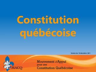 Constitution québécoise
