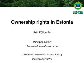 Ownership rights in Estonia