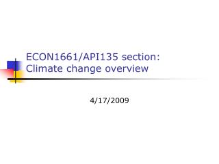 ECON1661/API135 section: Climate change overview