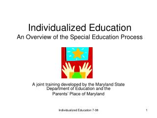 Individualized Education An Overview of the Special Education Process