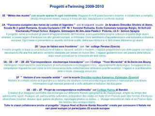 Progetti eTwinning 2009-2010