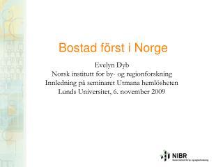 Bostad först i Norge