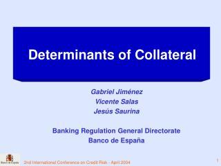 Gabriel Jiménez Vicente Salas Jesús Saurina Banking Regulation General Directorate Banco de España