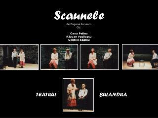 Scaunele de Eugene Ionesco Cu:  Oana Pellea Răzvan Vasilescu Gabriel Spahiu