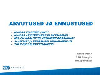 Vahur Kukk 220 Energia müügidirektor