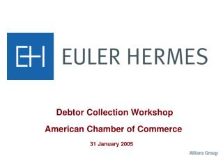 Debtor Collection Workshop American Chamber of Commerce 31 January 2005