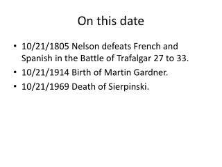 On this date