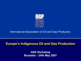 Europe's Indigenous Oil and Gas Production