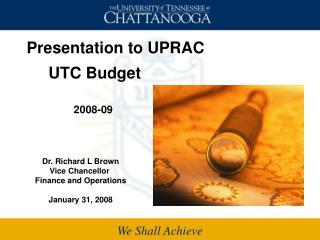 UTC Budget