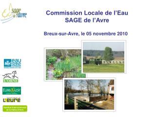 Commission Locale de l'Eau  SAGE de l'Avre