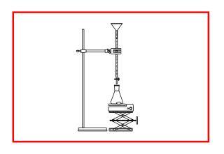 Aufgabe 1:  Beschreibe das Experiment, das du auf dem Bild siehst!