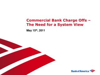 Commercial Bank Charge Offs – The Need for a System View