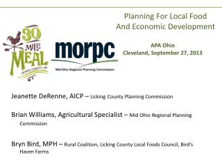 Planning For Local Food And Economic Development