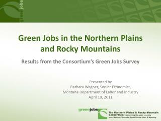 Green Jobs in the Northern Plains and Rocky Mountains