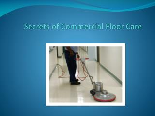 Secrets of Commercial Floor Care