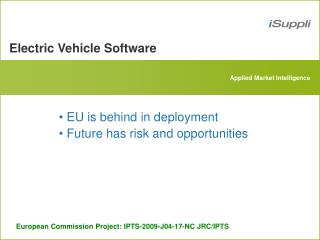 Electric Vehicle Software