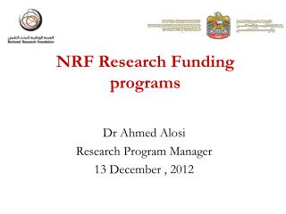 NRF Research Funding programs