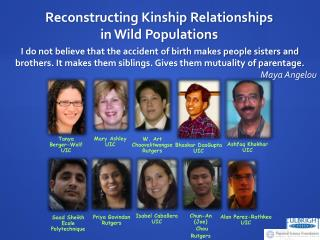 Reconstructing Kinship Relationships in Wild Populations