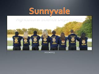 Sunnyvale  Agricultural Science Department