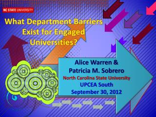 What Department Barriers Exist for Engaged Universities?