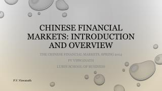 Chinese financial markets: introduction and overview