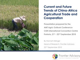 Current and Future Trends of China-Africa Agricultural Trade and Cooperation
