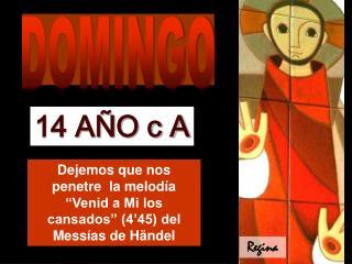 """Dejemos que nos penetre  la melodía """"Venid a Mi los cansados"""" (4'45) del Messías de Händel"""