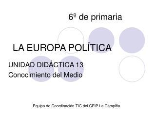 LA EUROPA POLÍTICA