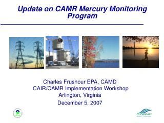 Update on CAMR Mercury Monitoring Program