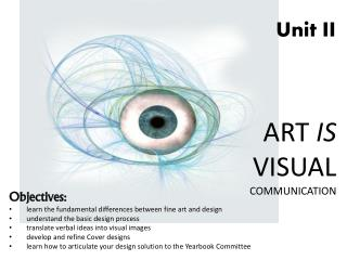 ART  IS  VISUAL  COMMUNICATION