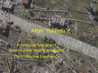 After 'Yolanda'