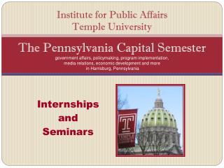 Internships  and  Seminars