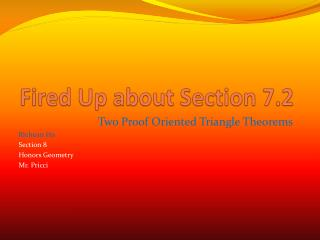 Fired Up about Section 7.2
