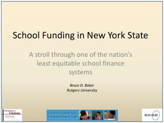 School Funding in New York State