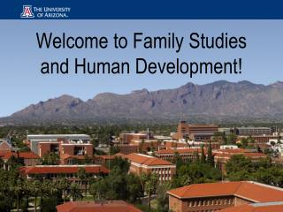 Welcome to Family Studies and Human Development!