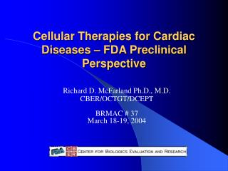 Cellular Therapies for Cardiac Diseases