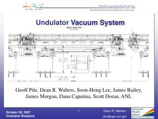 Undulator  Vacuum System