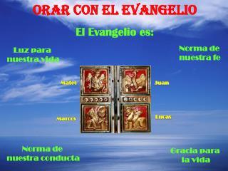 ORAR CON EL EVANGELIO El Evangelio es:
