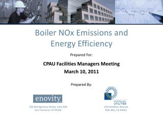 Boiler  NOx  Emissions and Energy Efficiency