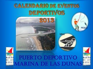 CALENDARIO  DE EVENTOS  DEPORTIVOS 2013