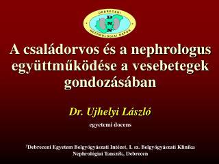 A családorvos és a nephrologus együttműködése a vesebetegek gondozásában