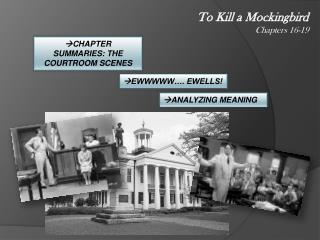 To Kill a Mockingbird Chapters 16-19