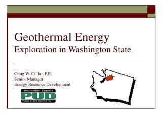 Geothermal Energy  Exploration in Washington State